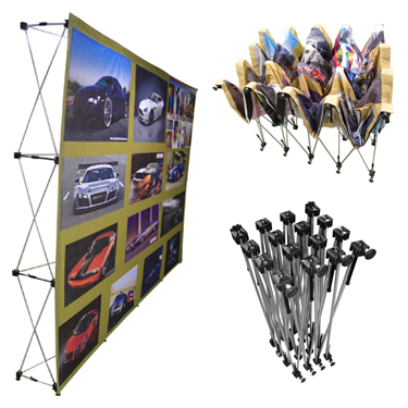 Cloth Banner Wall Straight - ideal displays - cloth banner wall ...